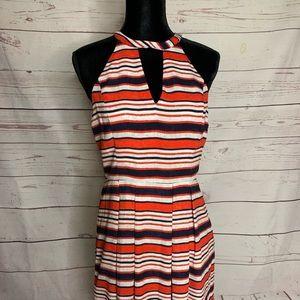 KENSIE Stripe Sleeveless Dress sz M